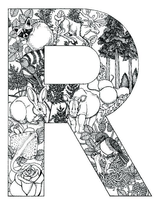 coloring_pages_animal_plant_abc_alphabet_R