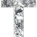 coloring_pages_animal_plant_abc_alphabet_T
