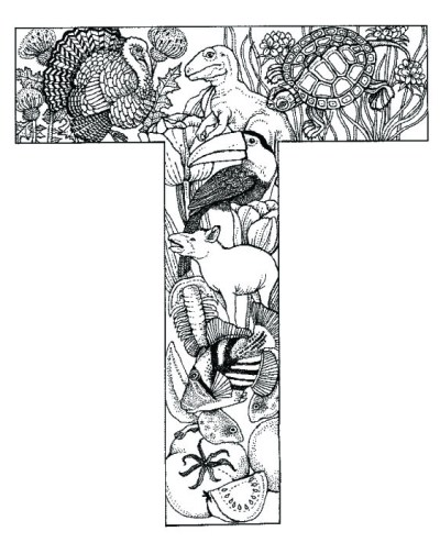 coloring_pages_animal_plant_abc_alphabet_T