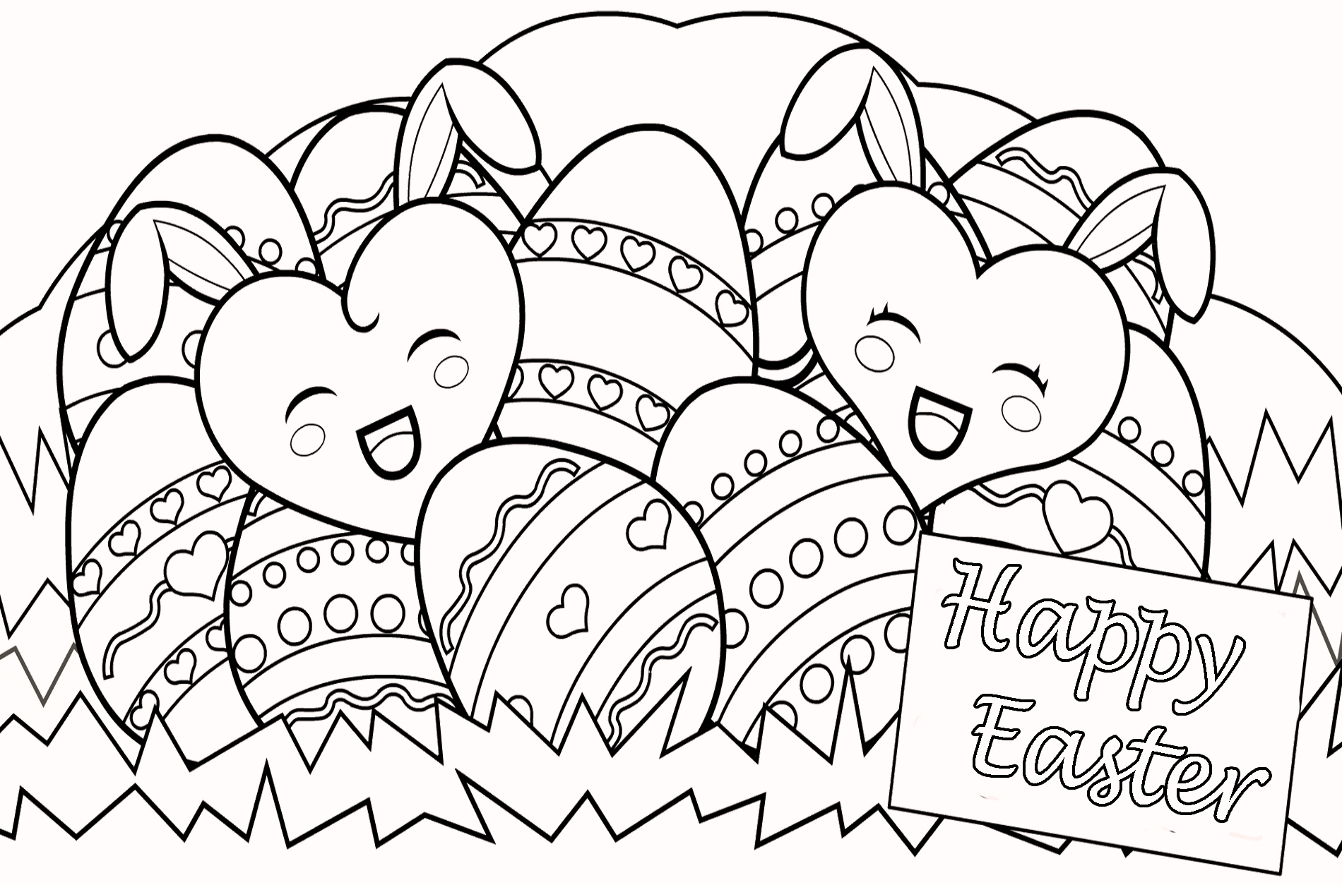 Happy Easter Coloring Pages For Free