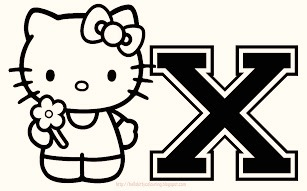 hello-kitty-alphabet-x-coloring-pages