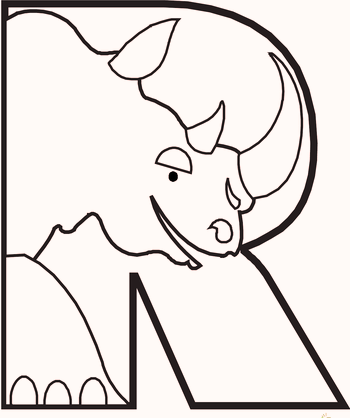 r-for-rino-animal-alphabet-coloring-pages