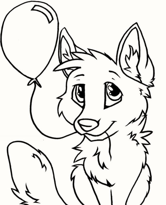 fox_coloring_pages_printable