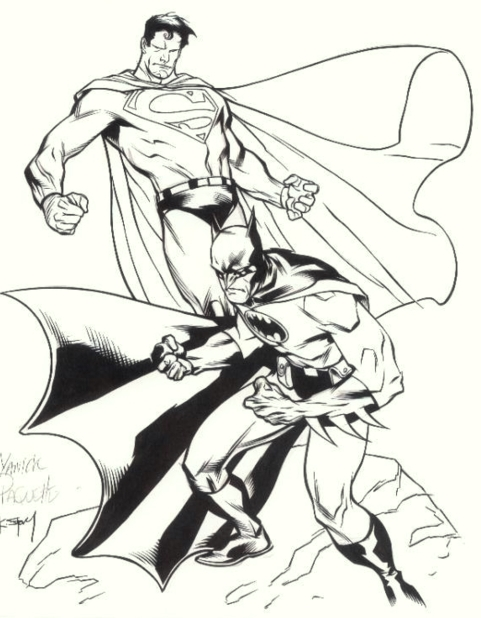 94 Coloring Pages Batman And Superman