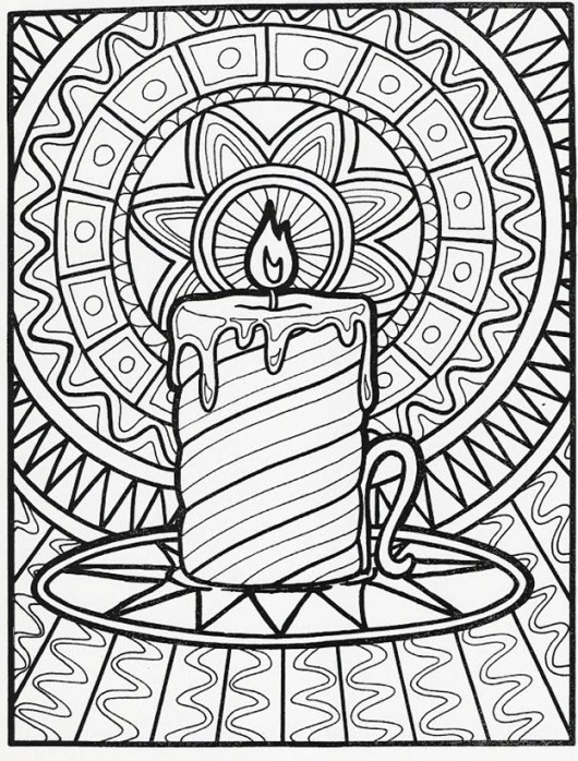 printable advent wreath coloring page - Advent Wreath Coloring Page