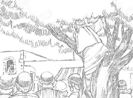 Zacchaeus-climbs-tree-coloring-page