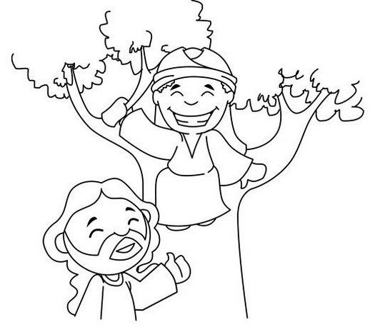 15 Printable Zacchaeus Tree Coloring Pages for Kids