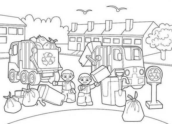 Lego-Duplo-Garbage-Service-Coloring-Pages-to-teach-kids