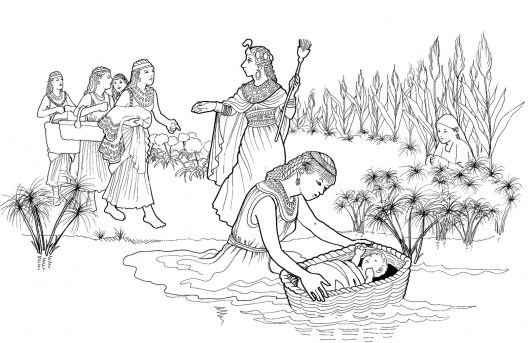 baby-moses-in-basket-coloring-page