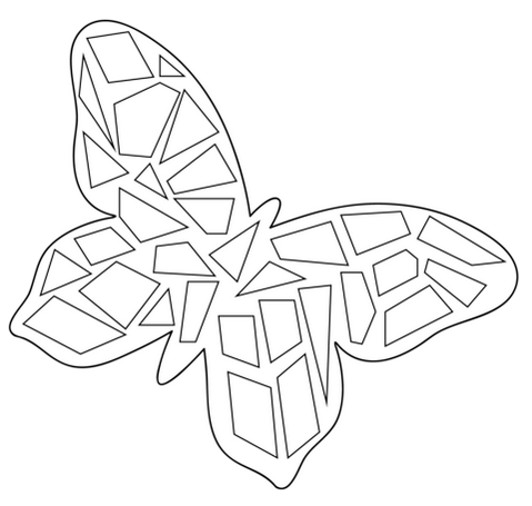 butterfly mosaic coloring pictures to print mosaic coloring pages - Mosaic Coloring Pages