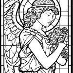 christmas-stained-glass-angel-coloring-pages-ornament