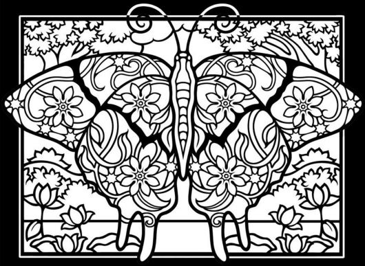 insect-butterfly-mandala-coloring-book