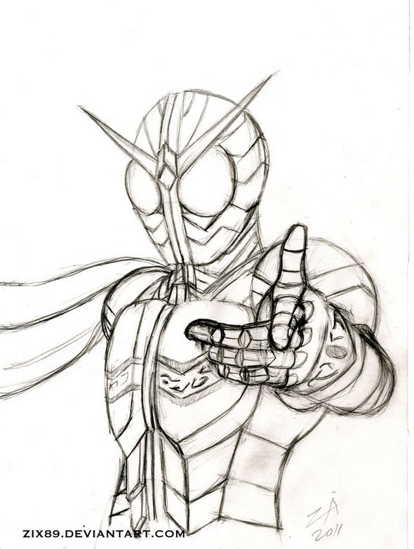 kamen-rider-w-coloring-and-drawing