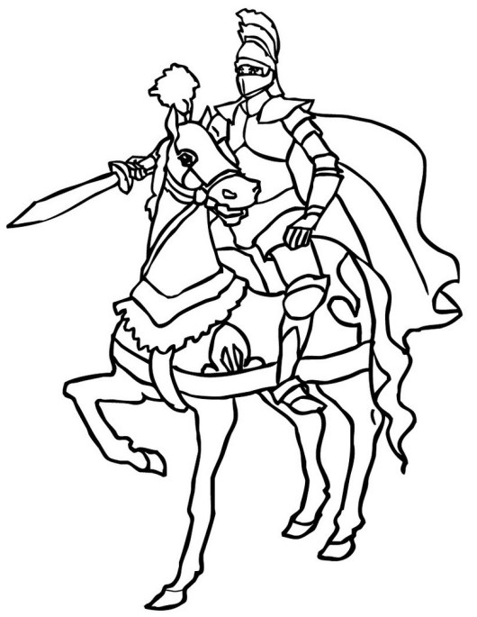 knight-coloring-page-to-print