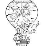 my-little-pony-in-hot-air-balloon-coloring-page