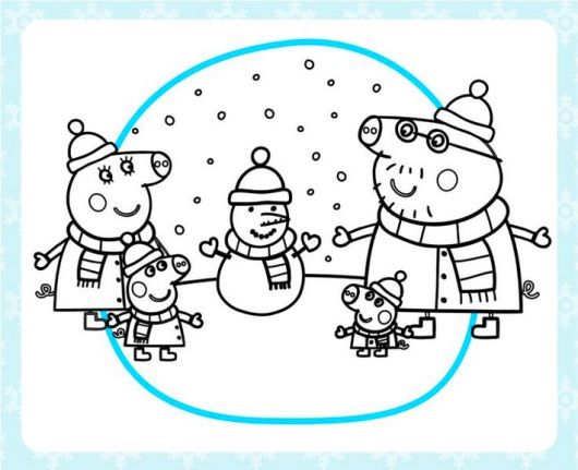 peppa-pig-snow-coloring-page