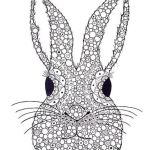 rabbit-face-zentangle-print-out-drawing