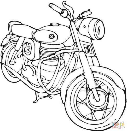 Top 20 Motorcycle Coloring Pages - Coloring Pages