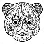 Zentangle head of panda