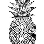 Zentangle Pineapple Coloring Pages Coloring Pages