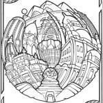 Cairo-Pyramids-Circular-Cities-Coloring-Book
