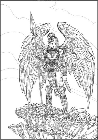 Creative Haven Winged Fantasy Designs Coloring Book By