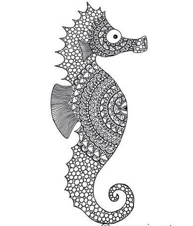 mandala-seahorse-coloring-picture