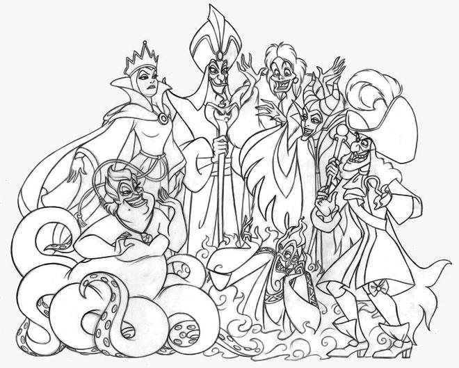 Disney-Villains-Group-coloring-page