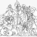 disney villains group coloring page - Disney Villain Coloring Pages