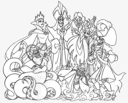 disney villains coloring book pages - photo#9