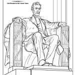 the lincoln memorial statue coloring page