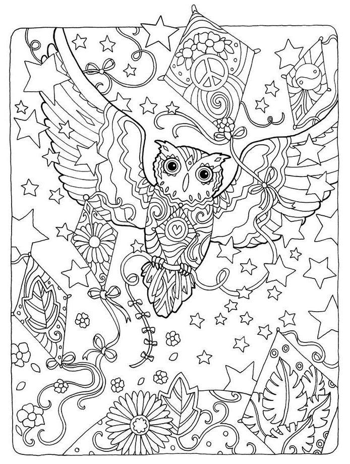 owl-and-kite-mandala-coloring-page