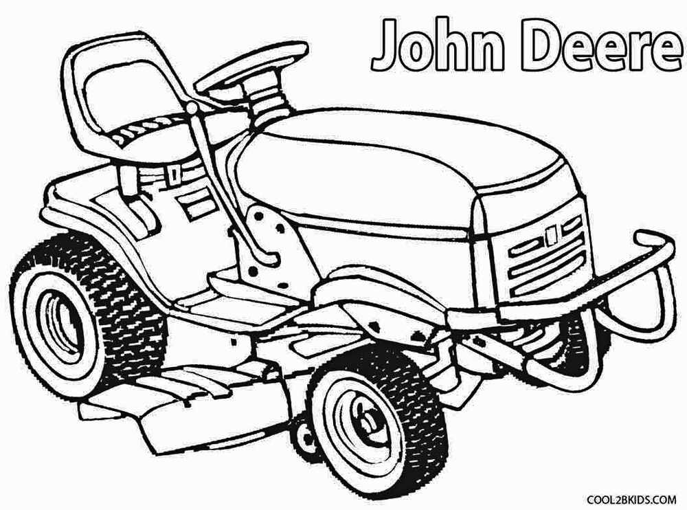 John Deere Lawn Mower Coloring Pages to print