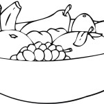 Free Fruit Coloring Food In Bowl Coloring Page Printable