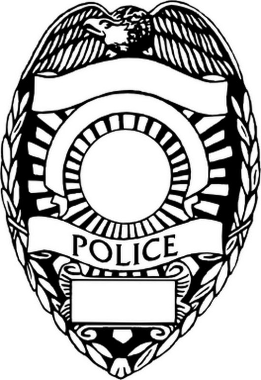 Police Badge Coloring Pages - Coloring Pages