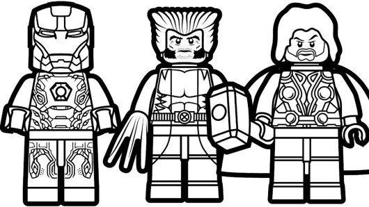 Ausmalbilder Lego Marvel Super Heroes: Thor Marvel Coloring Pages