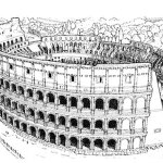 Worldwonders Colosseum In Rome Landmark Italy Coloring Pages Printable