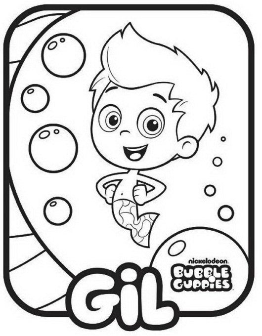 Bubble Guppies Nickelodeon Coloring Pages Gil Colouring Sheet