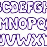 Bubble Letter Coloring Page Font Printable