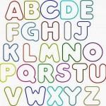 Bubble Letter Coloring Pages Font Letter Alphabet