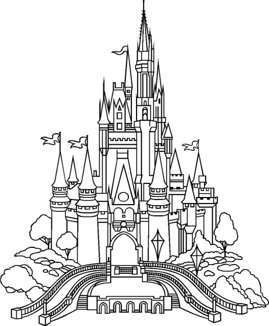 Disney Castle Coloring Fairy Tale Castle Coloring Page Printable