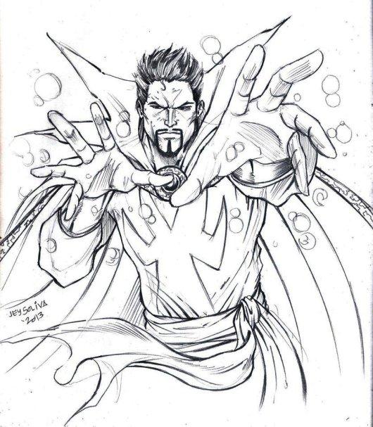Doctor Strange Coloring Page Superhero