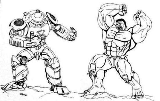 Hulk Buster Vs By Coloring Page Printable