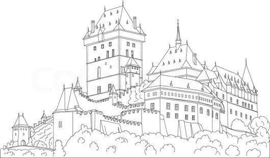 Magic Kingdom Castle Coloring Page