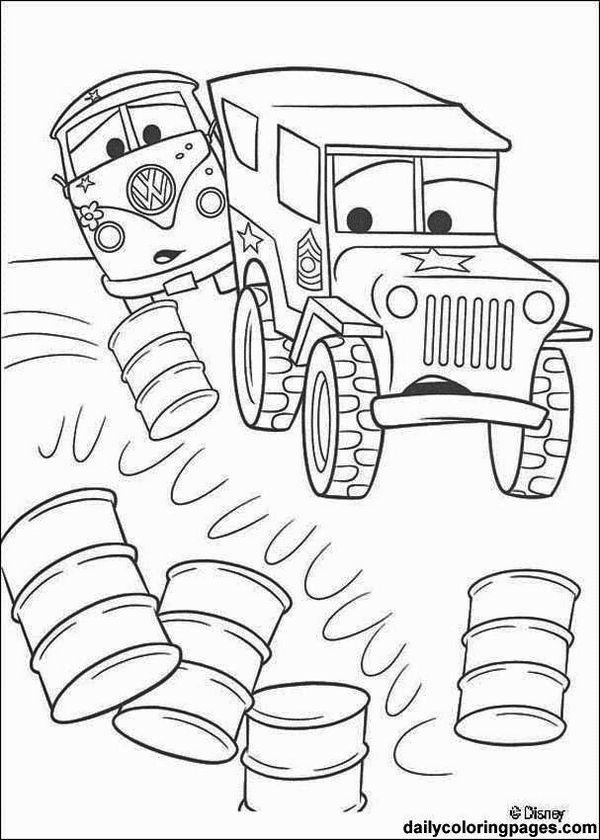 Mater Disney Car Coloring Pages Printable