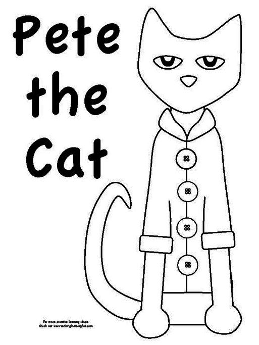 Pete The Cat Animation Coloring Page