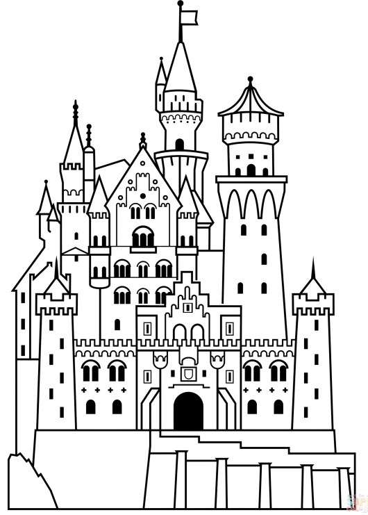 Princess Disney Castle Coloring Page