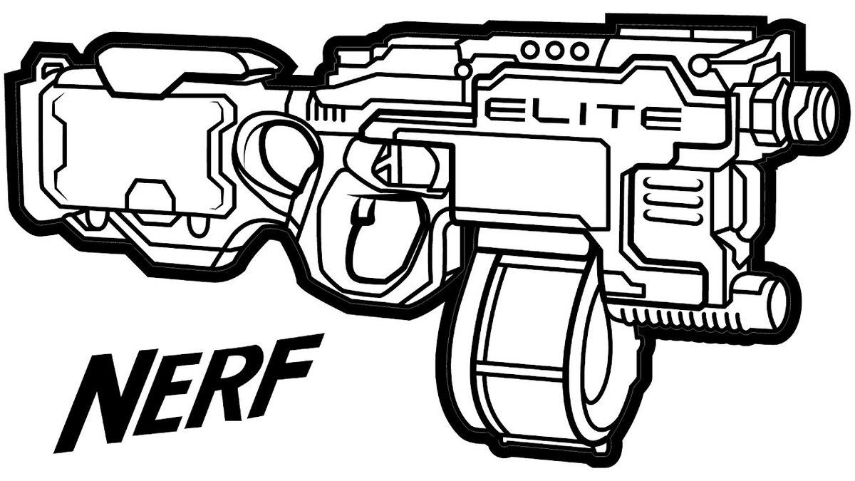 Printable Nerf Gun Coloring Page