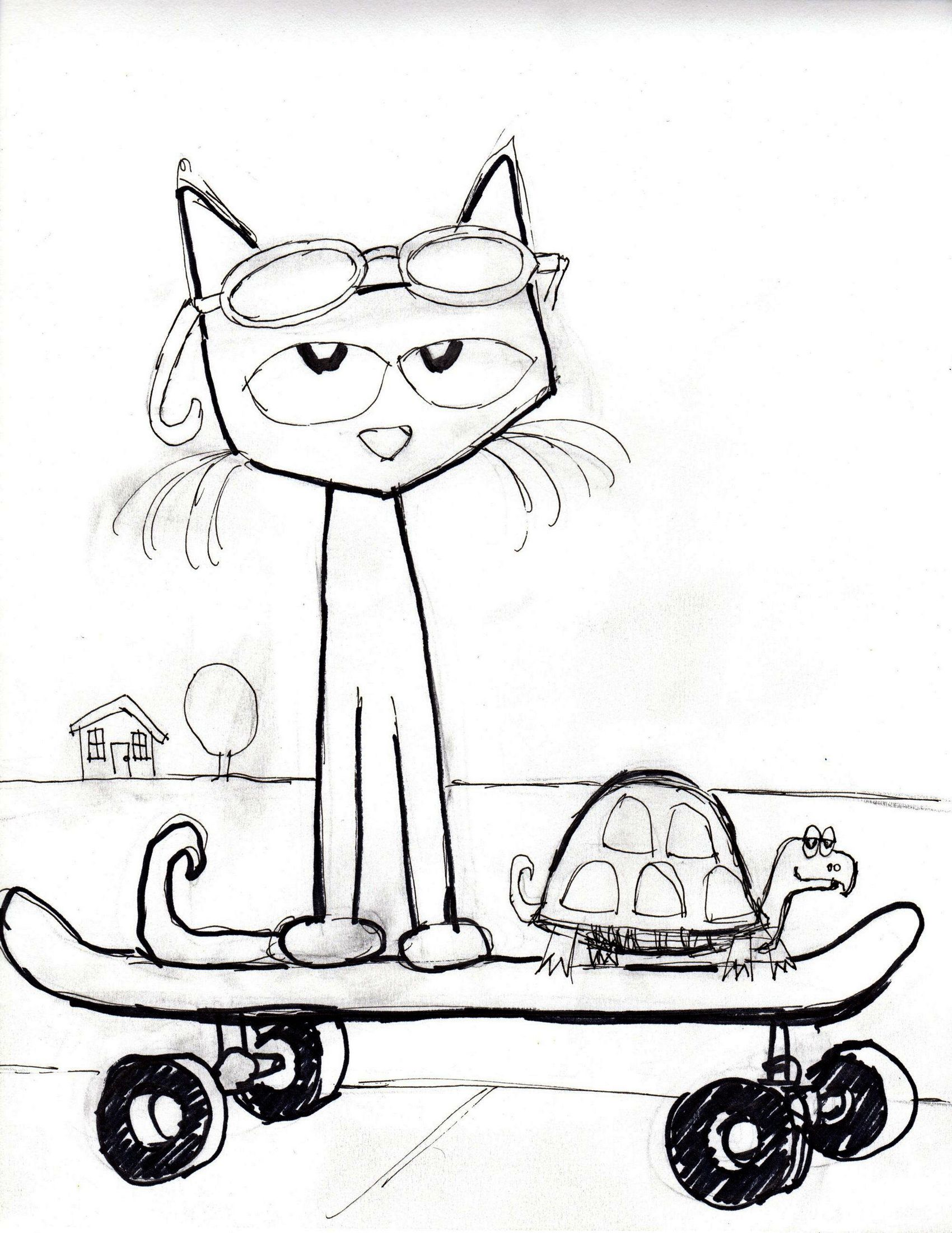 The Coolest Cat Coloring Pete The Cat Coloring Page