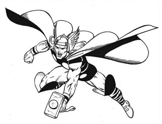 20 Free Printable Thor Coloring Pages: Superhero Coloring Pages Thor